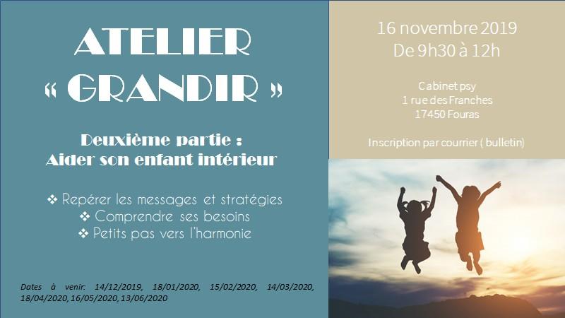 Atelier Grandir - 16 novembre 2019