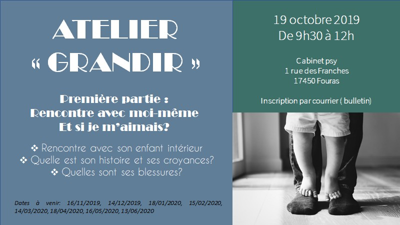 Atelier Grandir - 19 octobre 2019
